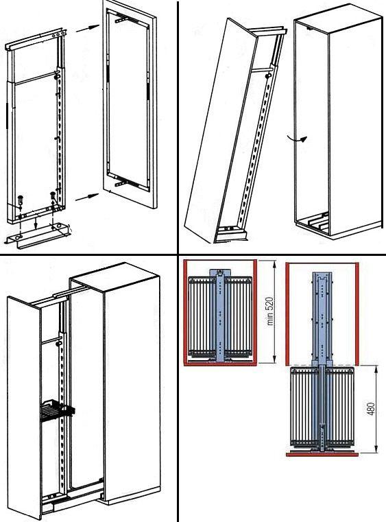 Пример установки выдвижной колонны