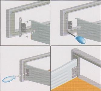 профиль для фасадов, алюминиевый профиль для кухни,  мебельная фурнитура, комплектующие для мебели