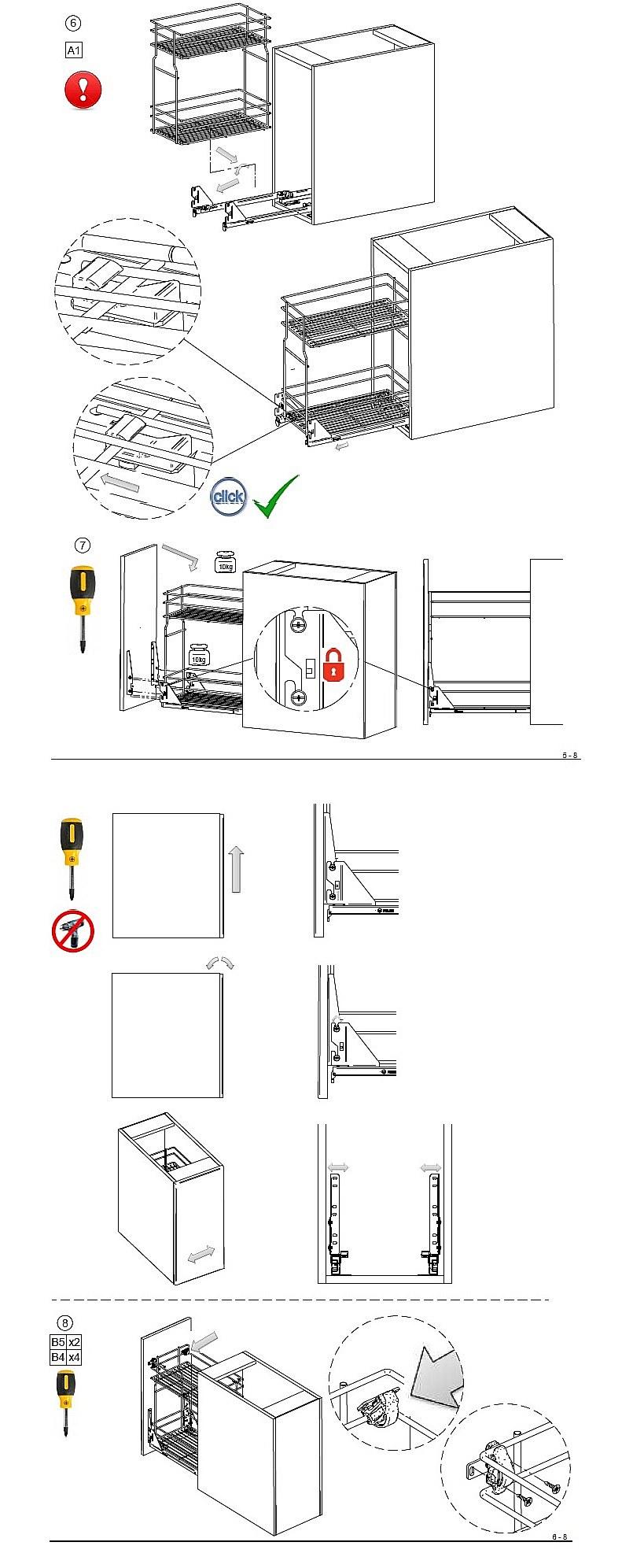 Схема и инструкция сборки высокой корзины для белья, часть 2.