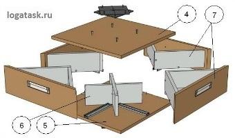 Сборка тумбы - подставка