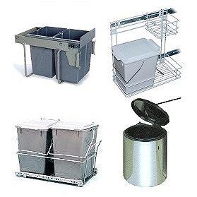 Фото выдвижных вёдер для кухни, которые продаются в интернет магазине LOGATASK.