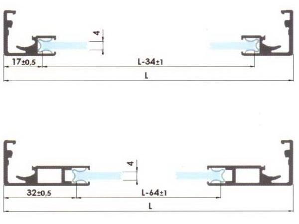 размеры стекла для фасадного профиля, мебельная фурнитура, комплектующие для мебели, рейлинги для кухни