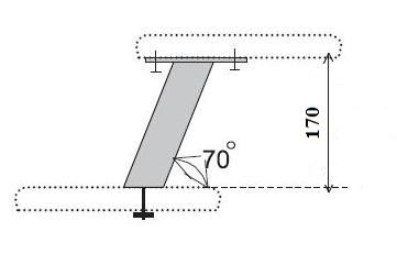 Схема крепления подпоры косой или пилона для барной стойки